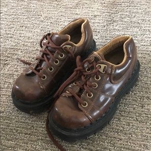Vintage L.e.i brown leather shoes